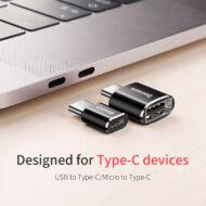 Baseus Micro USB - USB-C átalakító adapter (CAMOTG-01)
