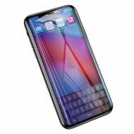 Baseus iPhone Xs Max All-screen teljes képernyős 0.2mm kékfényszűrős lekerekített edzett üveg kijelzővédő fólia - Fekete (SGAPIPH65-HE01)