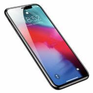 Baseus iPhone Xs Max 0.3 mm Lekerekíett teljes kijelzős Edzett üveg kijlezővédő fólia - Fekete (SGAPIPH65-KC01)
