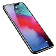 Baseus iPhone Xs Max 0.3 mm Lekerekíett teljes kijelzős Edzett üveg kijlezővédő fólia - Fekete (SGAPIPH65-KD01)