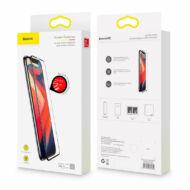 Baseus iPhone Xs Max Repedésálló lekerekített 0.23mm Edzett üveg kijelzővédő fólia - Fekete (SGAPIPH65-PE01)