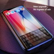 Baseus iPhone Xs Max All-screen teljes képernyős 0.2mm kékfényszűrős lekerekített edzett üveg kijelzővédő fólia - Fekete (SGAPIPHX-HEB01)