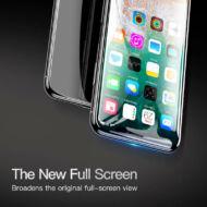 Baseus iPhone X 0.23 mm Lekerekített Edzett üveg kijelzővédő fólia Fekete (SGAPIPHX-KE01)