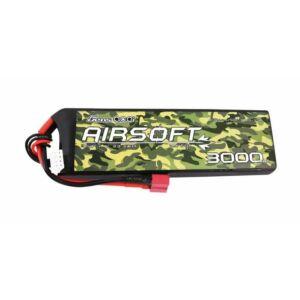 RC akkumulátor - Gens Ace 25/50C 3000mAh 3S1P 11.1V T-Plug, Airsoft fegyverekhez
