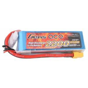 RC akkumulátor - Gens Ace 2200mAh 11.1V 45C 3S1P XT60