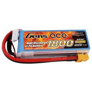 RC akkumulátor - Gens Ace 1800mAh 18.5V 45C 5S1P XT60