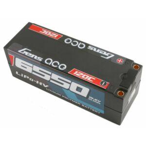 RC akkumulátor - Gens Ace 6550mAh 14.8V High Voltage 120C 4S1P (kemény tok)