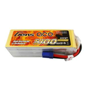 RC akkumulátor - GensAce 5100mAh 22.2V 80C 6S1P EC5