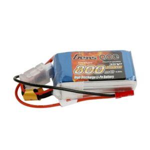 RC akkumulátor - GensAce LiPo 800mAh 11.1V 45C 3S1P