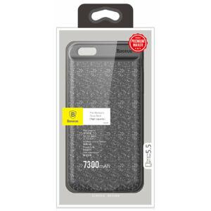 Baseus Plaid Backpack Apple iPhone 6/6S Plus Akkumulátoros Tok 7300 mAh - Fekete (ACAPIPH6SP-LBJ01)