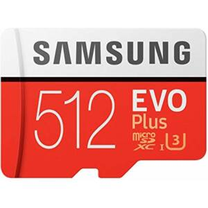 Samsung MicroSD Card EVO+ 512GB Class10 + Adapter MB-MC512GA/EU