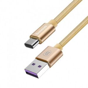Baseus gyorstöltő kábel Huawei USB-C 5A - 1m Arany (CATKC-0V)