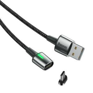 Baseus Type-C USB C Mágneses Zinc Adat- és töltőkábel 2A/3A 1m/2m