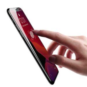 Baseus iPhone Xr 0.23 mm lekerekített ütésálló Edzett üveg kijelzővédő fólia - Fekete (SGAPIPH61-APE01)
