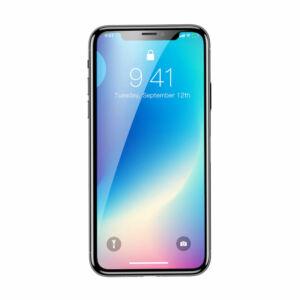 Baseus iPhone Xs Max 0.3 mm Rigid-edge Lekerekített Edzett üveg kijelzővédő fólia - Fekete (SGAPIPH65-AJG01)