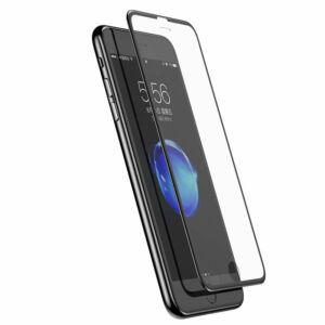 Baseus iPhone 8/7 0.23 mm Silk-screen T-Glass Edzett üveg kijelzővédő fólia (keskeny kerettel) - Fekete (SGAPIPH7S-ZD01)