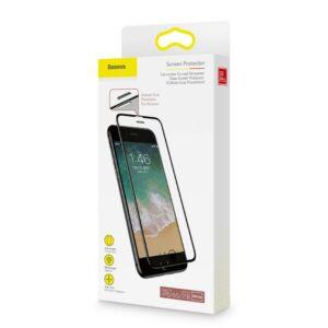 Baseus iPhone 8/7/6 0.23 mm Lekerekített kékfényszűrős Edzett üveg (hangszóró por szűrővel)