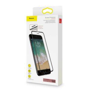 Baseus iPhone 8/7/6 Plus 0.23 mm Lekerekített kékfényszűrős Edzett üveg (hangszóró por szűrővel)