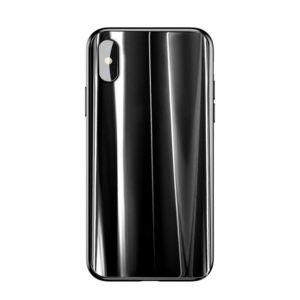 Baseus iPhone X Sparkling Üvegezett védőtok tok - Fekete (WIAPIPHX-KI01)