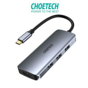 Choetech HUB-M19 7 in 1 Multiport USB C HUB adapter 3x USB 3.0 HDMI Micro SD / SD Kártyaolvasó