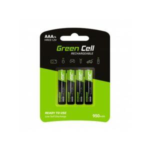 Green Cell 4x Akumulator Újratölthető Elem AAA HR03 950mAh
