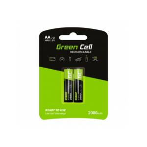 Green Cell Akumulator Újratölthető Elem 2x AA HR6 2000mAh