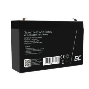 Green Cell AGM akkumulátor/akku 6V 7.2Ah