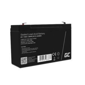 Green Cell AGM akkumulátor/akku 6V 15Ah