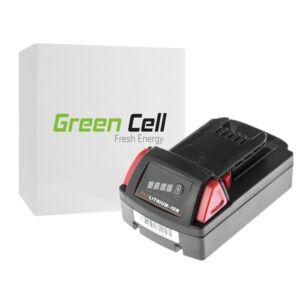 Green Cell Kéziszerszám akkumulátor Milwaukee C18 M18 18V 2000mAh