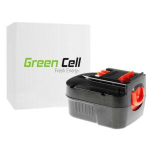 Green Cell Kéziszerszám akkumulátor Black&Decker A12 A1712 HPB12 12V 3Ah