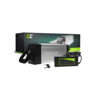 Green Cell Elektromos kerékpár akkumulátor 24V 15Ah Silverfish Type E-Bike Pedelec töltővel