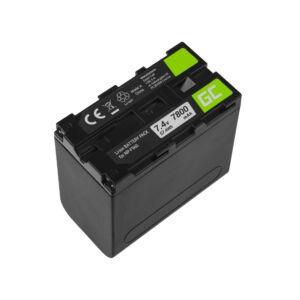 Green Cell Digitális kamera akkumulátor NP-F960 NP-F970 NP-F975 Sony 7.4V 7800mAh