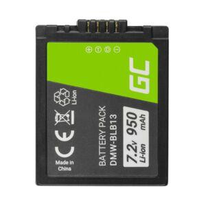 Green Cell Digitális kamera akkumulátor DMW-BLB13 DMWBLB13 Panasonic Lumix DMC-G1 7.2V 950mAh