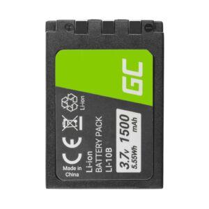 Green Cell Digitális kamera akkumulátor Li-10B LI-10B Olympus Stylus 300, ž 800,Camedia X-2 3.7V 1500mAh
