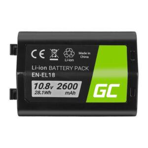 Green Cell Digitális kamera akkumulátor EN-EL18 ENEL18 Nikon D4, D4S, D5 10.8V 2600mAh