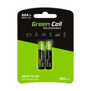 Green Cell 2x akkumulátor AAA HR03 800mAh