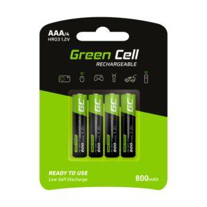 Green Cell 4x akkumulátor AAA HR03 800mAh