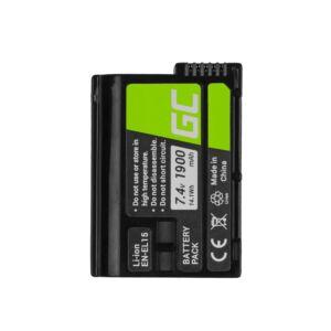 Green Cell Digitális kamera akkumulátor Nikon D600 D800 D7000 D8000 7.0V