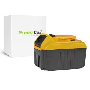 Green Cell Kéziszerszám akkumulátor DeWalt DCB140 DCB141 DCB142 DCB140-XJ DCB141-XJ 14.4V 6Ah