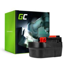 Green Cell Kéziszerszám akkumulátor Black&Decker A12 A1712 HPB12 12V 2Ah