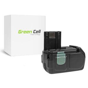 Green Cell Kéziszerszám akkumulátor Hitachi BCL1830 BCL1815 EBM1830 327730 18V 2.5Ah