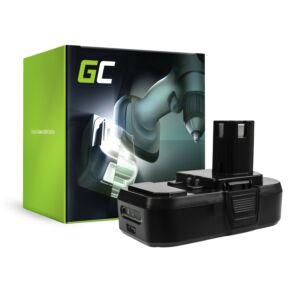 Green Cell Kéziszerszám akkumulátor Ryobi ONE+ RB18L50 BPL-1815 18V 2.5Ah
