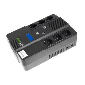 Green Cell UPS Szünetmentes tápegység AiO 600VA LCD kijelző