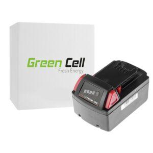 Green Cell Kéziszerszám akkumulátor Milwaukee C18 M18 18V 3000mAh