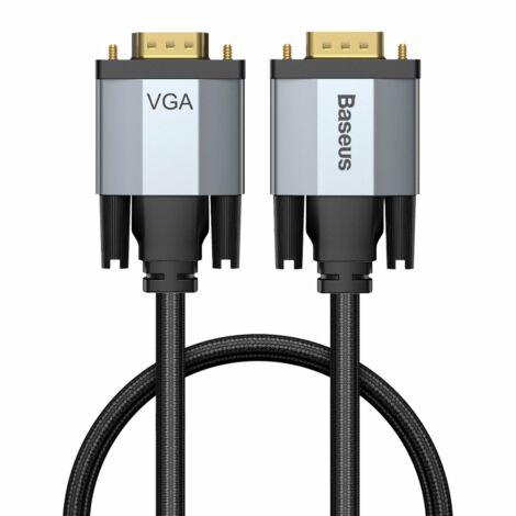Baseus Enjoyment Series VGA To VGA kétirányú Adapter Kábel 1m - Szürke (CAKSX-T0G)