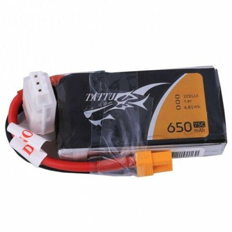 RC akkumulátor - Tattu 650mAh 7.4V 75C 2S1P