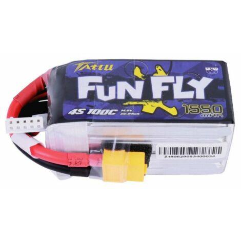 RC akkumulátor - Tattu Funfly 1550mAh 14,8V 100C 4S1P