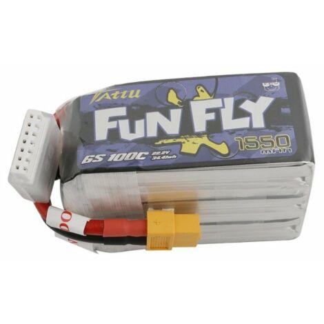 RC akkumulátor - Tattu Funfly 1550mAh 22.2V 100C 6S1P XT60