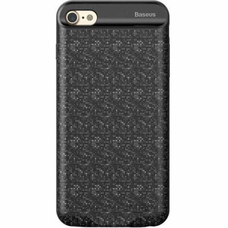 Baseus Plaid Backpack Apple iPhone 6/6S Akkumulátoros Tok 5000 mAh - Fekete (ACAPIPH6S-LBJ01)