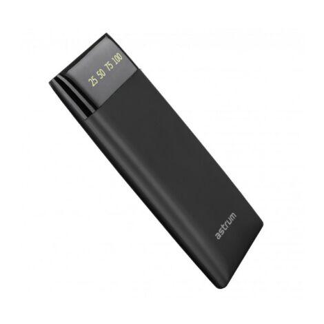 Astrum PB540 Power Bank 6000MAH LED kijelzővel fekete színben
